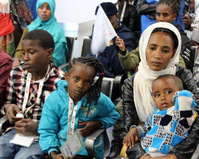 لاجئون إثيوبيون في روما. المصدر: أنسا.