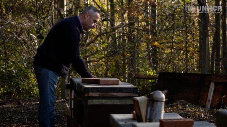 ansa / رياض السوس .. لاجئ سوري يواصل شغفه بتربية النحل في بريطانيا