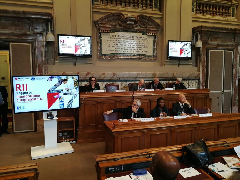 A photo from the presentation of the report in Rome Credit: Stefano Intreccialagli/ANSA