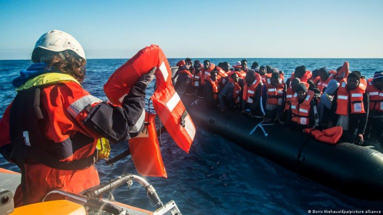 From file: A Sea-Watch operation in international waters   Photo: Boris Niehaus/dpa/Picture-alliance