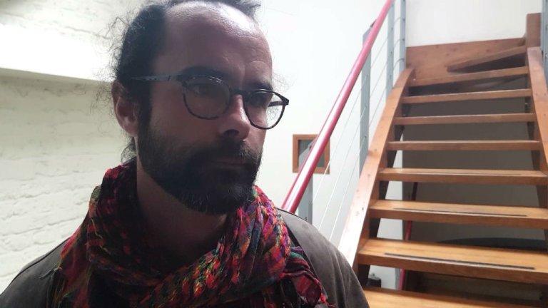 Le militant Cédric Herrou au Tribunal permanent pour les peuples, le 5 janvier 2018 à Paris. Crédits : InfoMigrants