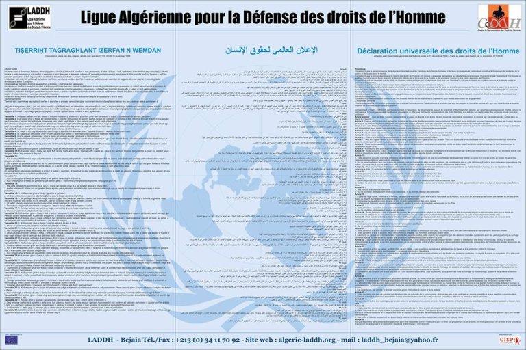 الإعلان العالمي لحقوق الإنسان / الرابطة  الجزائرية للدفاع عن حقوق الأنسان / ANSA
