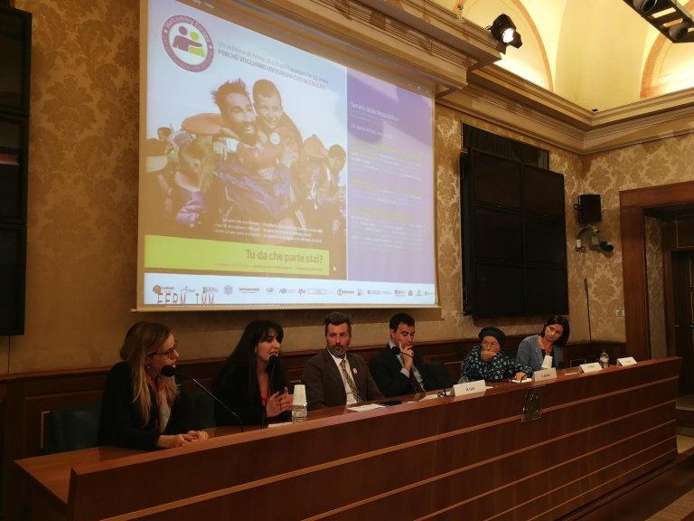 ansa / لحظة تقديم المبادرة إلى مجلس الشيوخ الإيطالي. المصدر: أنسا.