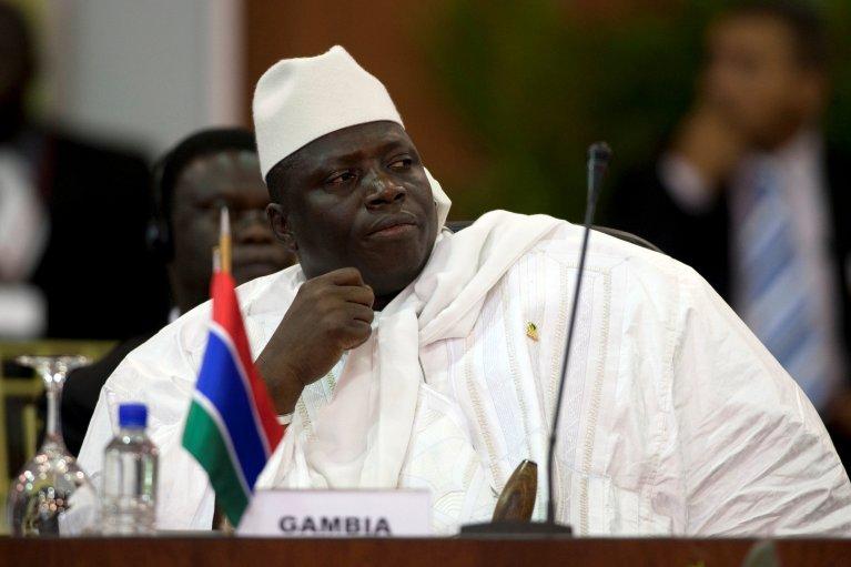 REUTERS/Carlos Garcia Rawlins/Files |Yahya Jammeh (image d'illustration). Selon des ONG, les migrants ont bien été massacrés par les «junglers», la milice qui recevait ses ordres directement de l'ancien président gambien.