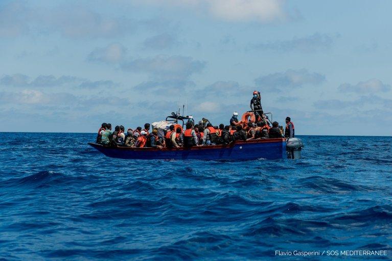 L'Ocean Viking a repris la mer le 22 juin après trois mois d'interruption à cause de la crise sanitaire mondiale. Crédit : SOS Méditerranée