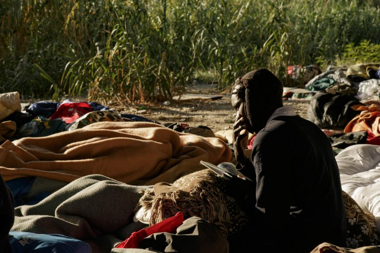 A young Sudanese migrant living with other immigrants along the Roya river in the border town of Ventimiglia | Photo: OXFAM