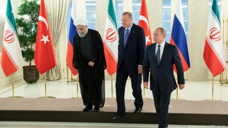 Iranian President Hassan Rouhani, Turkish President Recep Tayyip Erdogan and Russian President Vladimir Putin in Ankara Turkey, September 16, 2019 | Photo: Picture-alliance / AP/ P. Golovkin