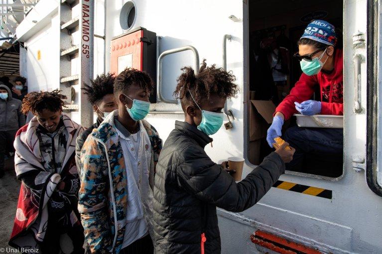 The Aita Mari rescued 102 migrants off the coast of Libya on Friday | Photo: Maydayterraneo