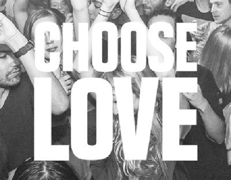 The logo of 'Choose love' | Credit: Help Refugees