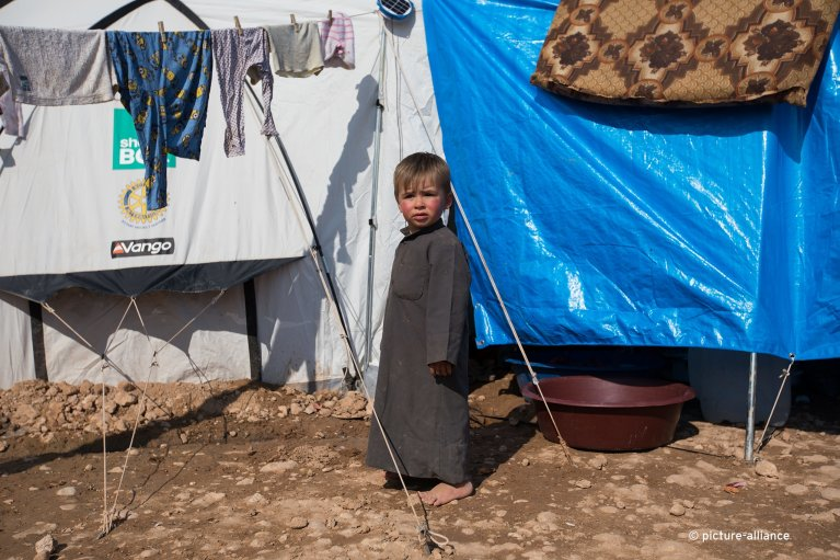 Many children in Syria have never known a life outside a refugee camp | Photo: Picture-alliance/Sebastian Backhaus