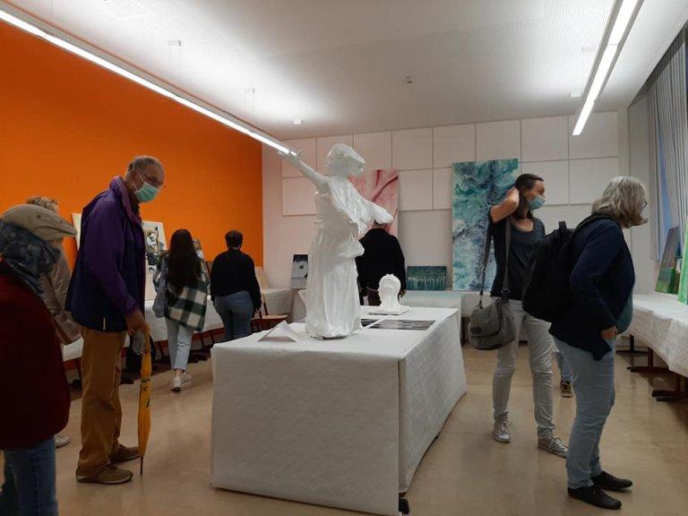 معرض فني للاجئ السوري اسماعيل الحموي في لايبزيغ