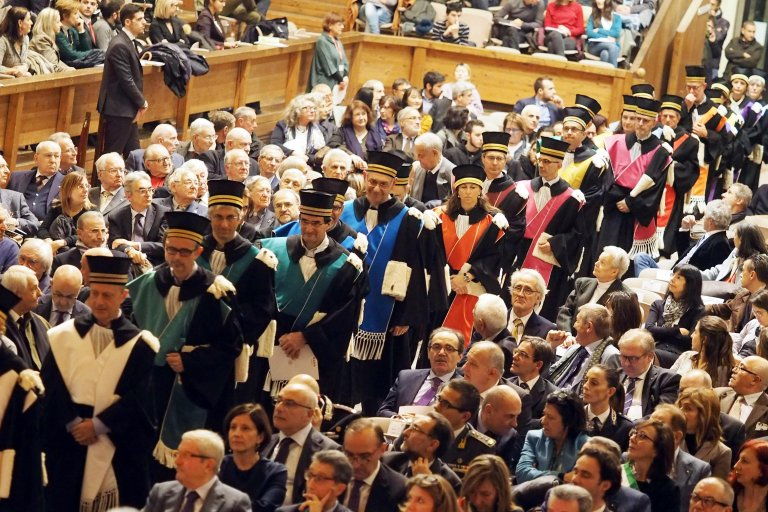 The inauguration ceremony for the academic year at the University of Bologna. Credit: ANSA/GIORGIO BENVENUTI