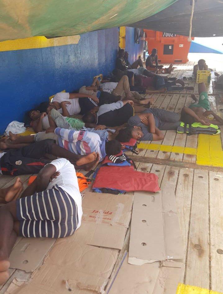 40 migrants are onboard the Sarost 5 | Credit: InfoMigrants
