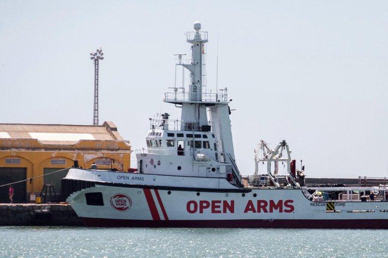 The NGO Open Arms vessel arriving at Burriana Port in Valencia, Spain, 14 June 2018. EPA/Domenech Castello