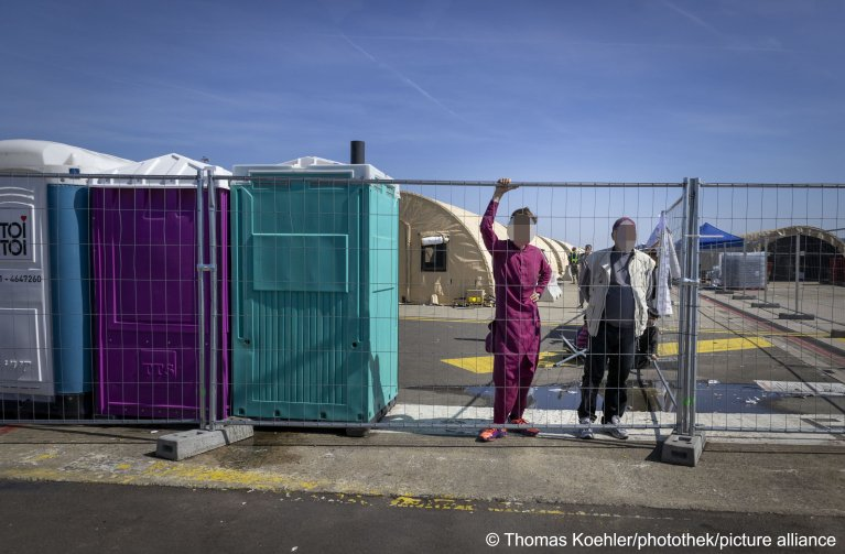 Around 8,000 Afghan refugees are living in tents in the US air base Ramstein, September 8, 2021