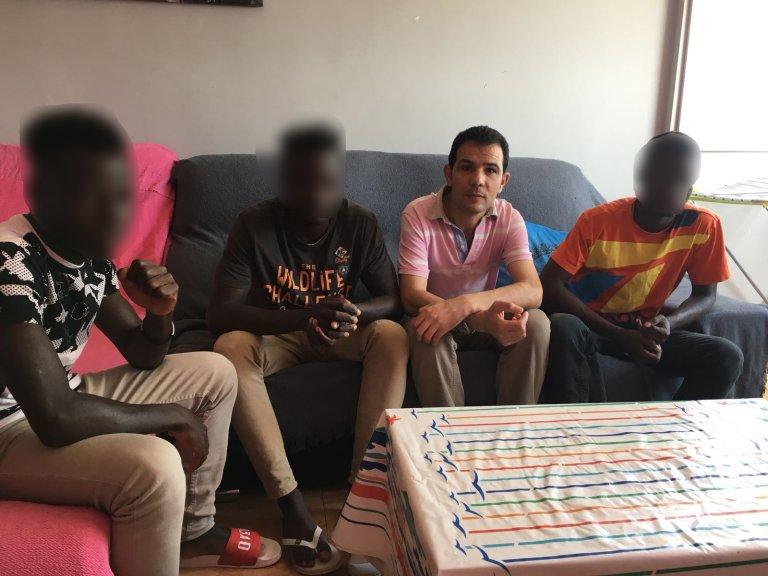 Grâce à l'association marocaine pour l'intégration des migrants en Espagne, six jeunes sont hébergés à leur sortie du centre pour mineurs. Crédit : Leslie Carretero