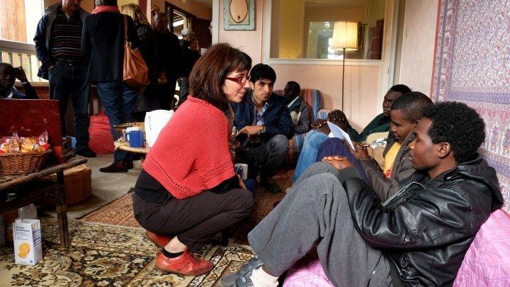 أحد مراكز استقبال المهاجرين في باريس. أرشيف