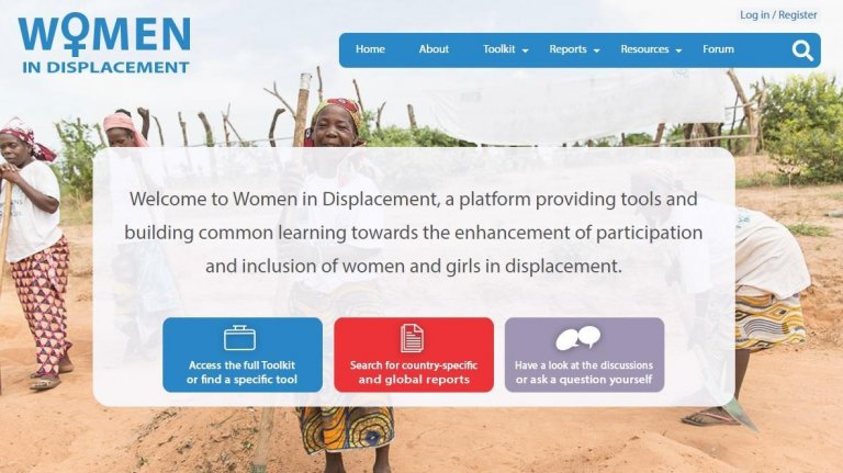 The homepage of the website 'Women in displacement' | Credit: ANSA