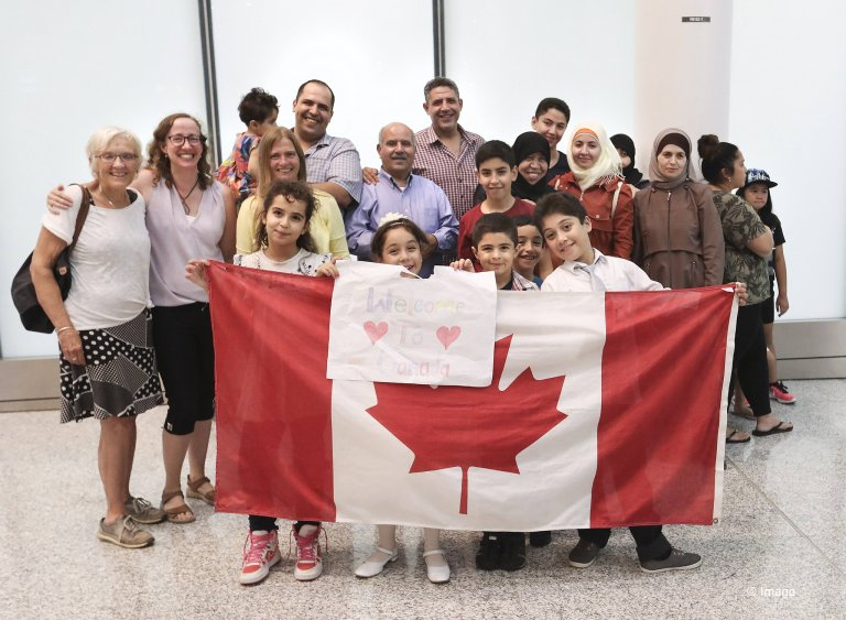 Canada has taken in several migrants and refugees. | Credit: imago, Richard Lautens