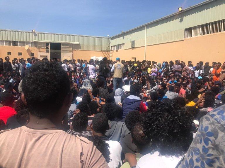مهاجرون في العاصمة الليبية طرابلس/الصورة: مفوضية اللاجئين