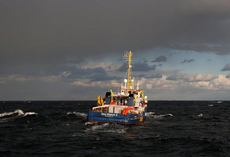 کشتی سی واچ در  مدیترانه، جنوری ۲۰۱۹. عکس: رویترز