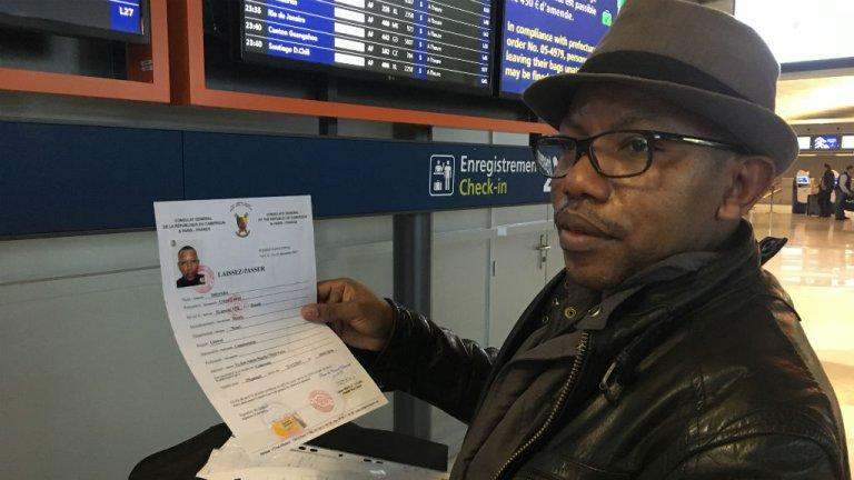 Cristel Cabrel a quitté Paris le 4 janvier pour Douala. Crédit : Julia Dumont, InfoMigrants.