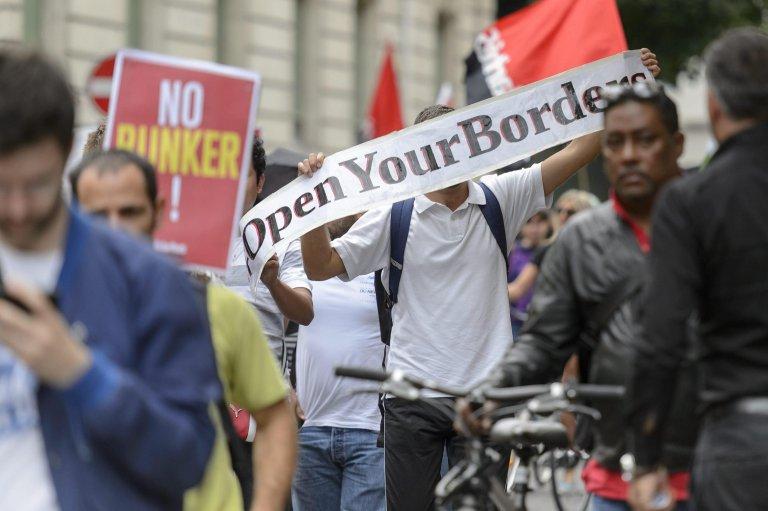 From file: Pro-refugee demonstration in Geneva, Switzerland | Credit: ANSA