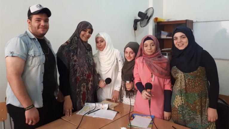 © MicroCamp Radio |Atelier radio à Beyrouth.