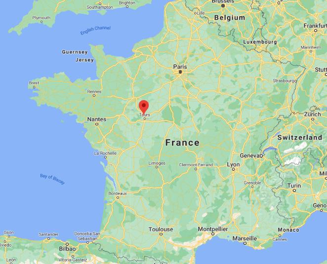 Une cinquantaine de migrants ont été abandonnés par leurs passeurs près de Tours. Crédit : Google