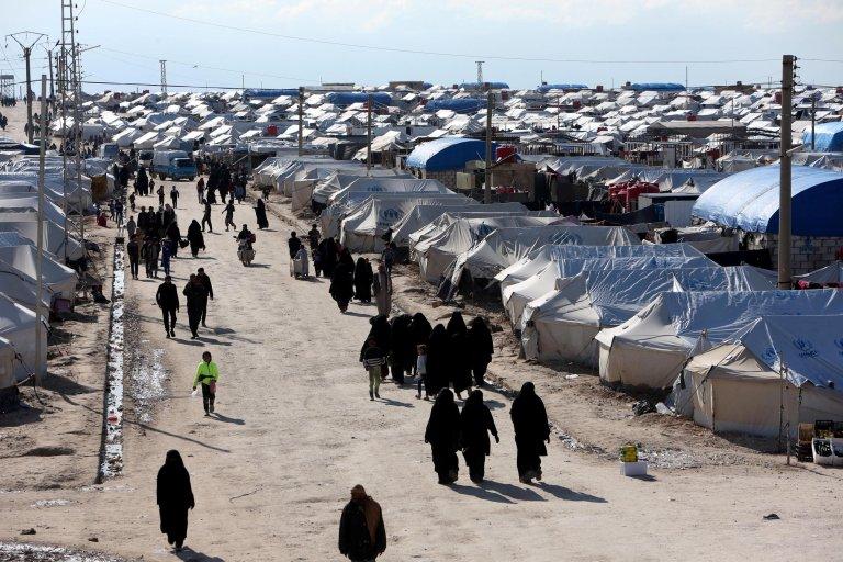 کمپ الهول در شمال شرق سوریه، ۱ اپریل سال ۲۰۱۹/REUTERS/Ali Hashisho