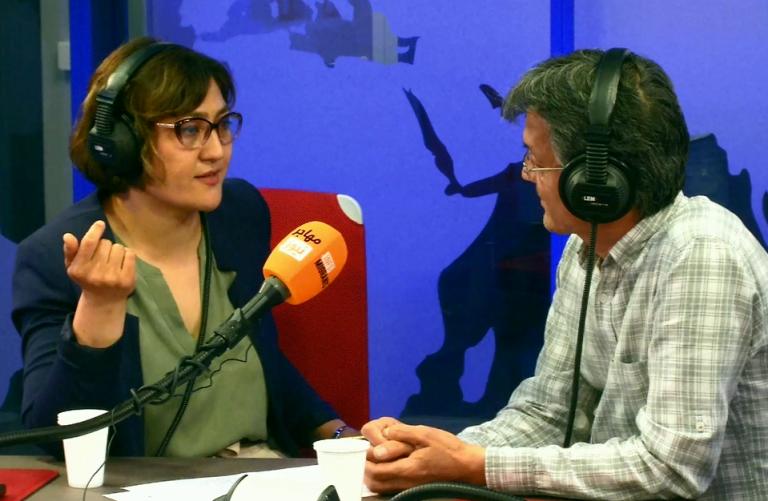 """صحرا مانی، فیلمساز، هنگام گفتوگو درباره  فیلم مستند """" هزار و یک زن چون من"""" با مهاجر نیوز. عکس از مهاجر نیوز"""