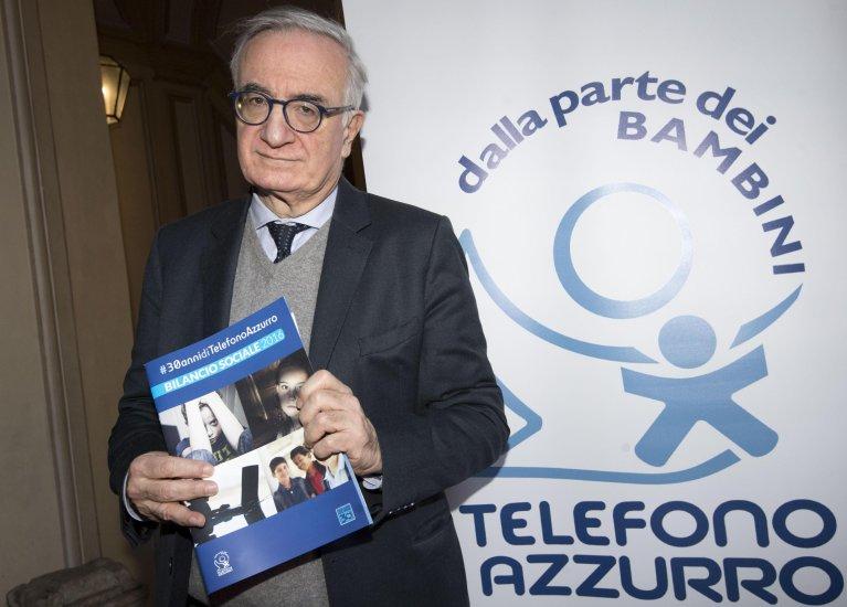 elefono Azzurro president Ernesto Caffo, at a conference on protecting unaccompanied migrant children. Credit: ANSA/CLAUDIO PERI