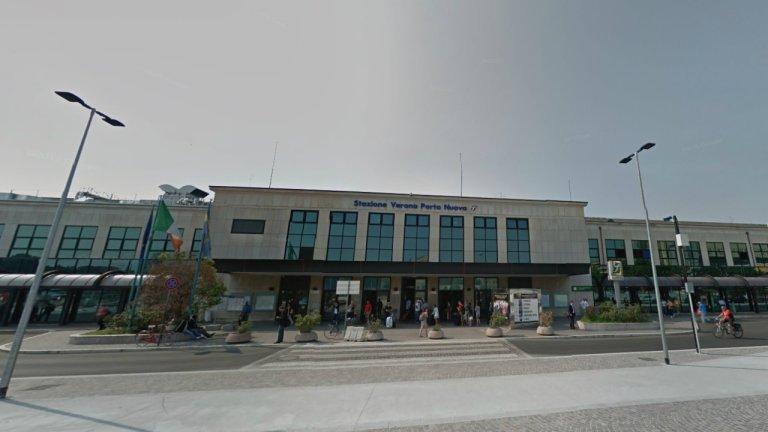 Le parvis de la gare de Vérone en Italie. Crédit : Google street view