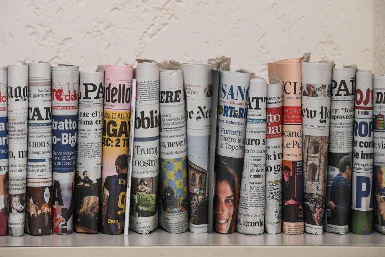 Various Italian newspapers