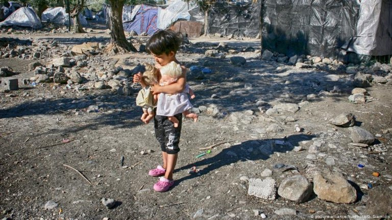 A child at the Moria camp on Lesbos, Greece | Photo: Picture-alliance/NurPhoto/G.Siamidis