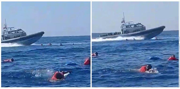 Les forces armées maltaises ont aidé en avril des migrants en difficulté en mer à rejoindre l'Italie, à défaut de les conduire à Malte. Crédit : Alarm Phone