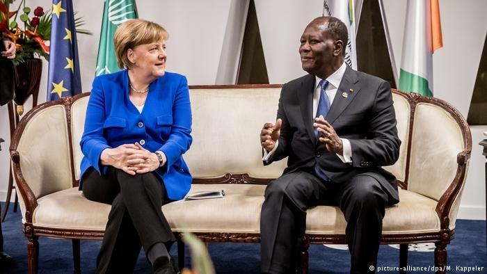 Angela Merkel at the EU-Africa summit