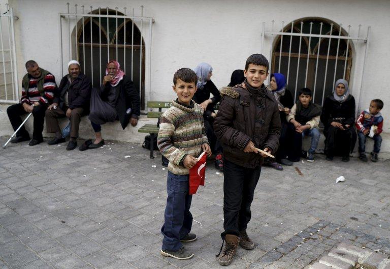 لاجئون سوريون في تركيا/ روتيرز