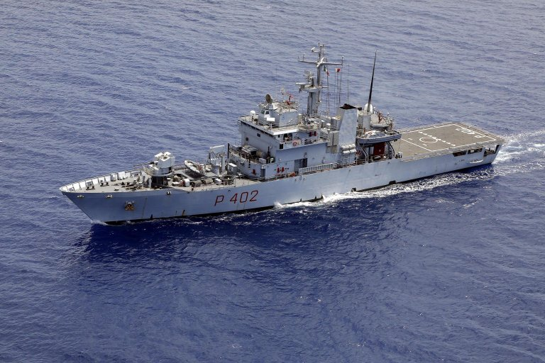 Italian navy ship Libra off the coast of Lampedusa | Photo: ANSA/Guiseppe Lami
