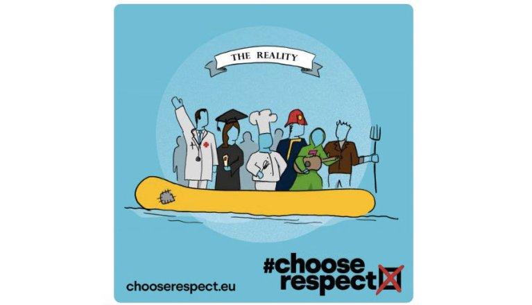 Logo for the #chooserespect campaign | Souce: Twitter @chooserespectEU