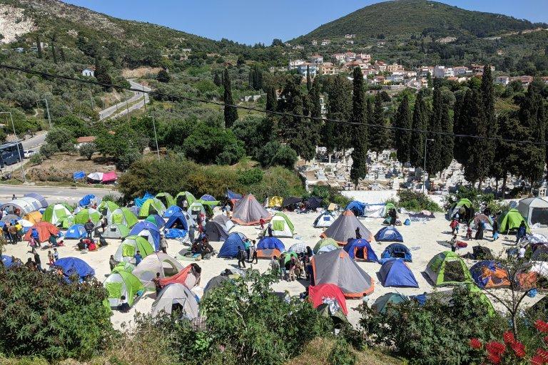 Le camp de Samos en Grèce. Crédit : Reuters