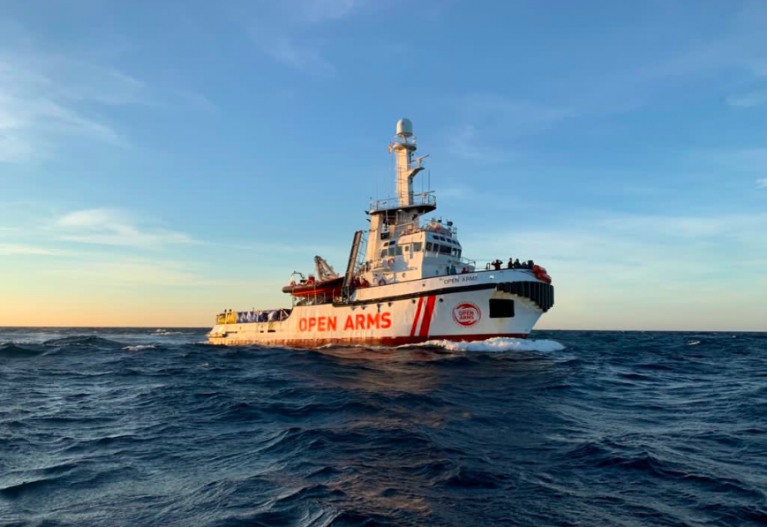 The Open Arms vessel had been at sea for five days | Source: Screenshot from Open Arms