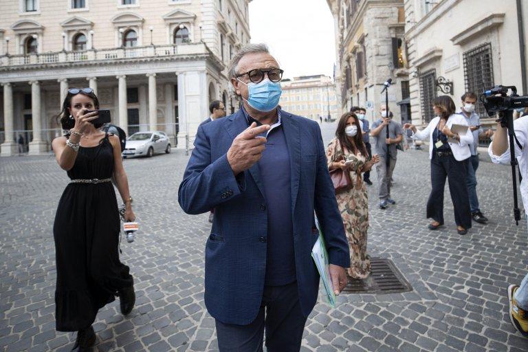 Lampedusa Mayor Totò Martello in Rome, on September 2, 2020   Photo: ANSA/Massimo Percossi