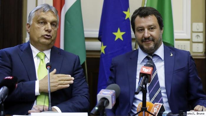 Hungary's Viktor Orban and Italian Interior Minister Matteo Salvini meet in Milan