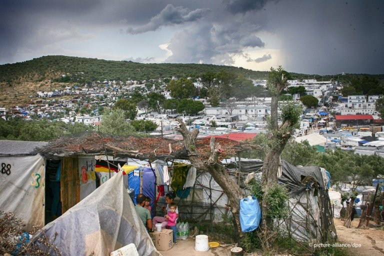 ile photo taken June 2020 of Moria camp on the Greek island of Lesbos.  Credit : Picture alliance