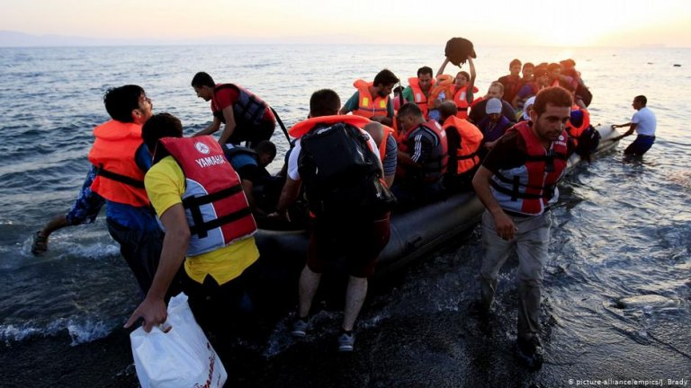 From file: Migrants arriving on Kos, Greece in 2017   Photo: Picture-alliance/empics/J.Brady