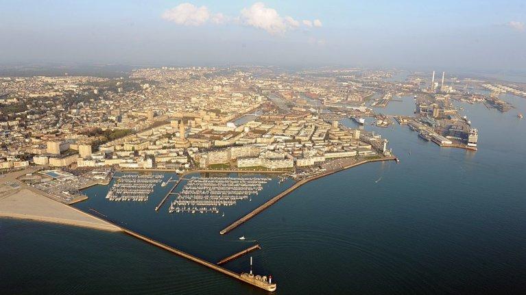 Vue aérienne de la ville du Havre. Crédit : Wiki Commons