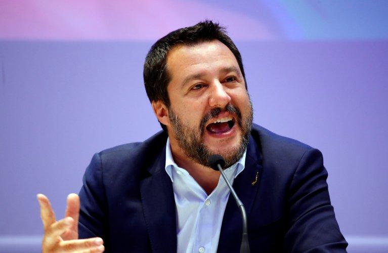 ماتو سالوینی، وزیر داخله راست افراطی ایتالیا. عکس از رویترز