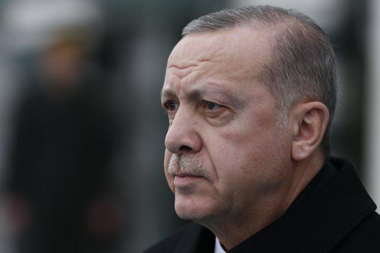 Turkish President Recep Tayyip Erdogan. Credit: ANSA/AP PHOTO/BURHAN OZBILICI