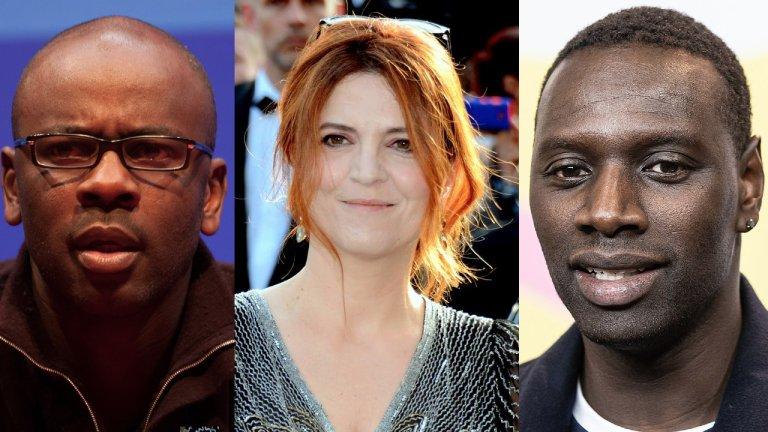 De gauche à droite : l'ex-footballeur Lilian Thuram, la comédienne Agnès Jaoui et le comédien Omar Sy. Crédit : Wikipedia Creative Commons